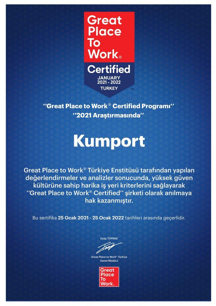 Kumport_Sertifika